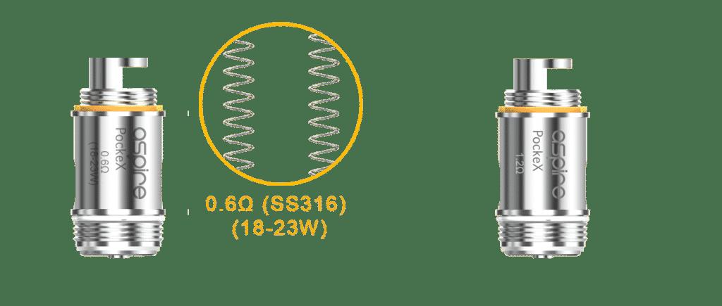 Les résistances compatible avec Aspire PockeX