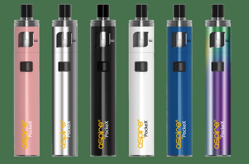 Option de couleurs de la e-cigarette PockeX