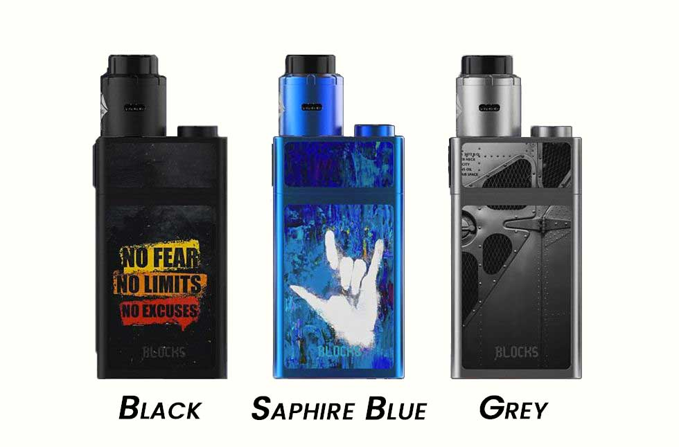 Les couleurs du kit Blocks Uwell