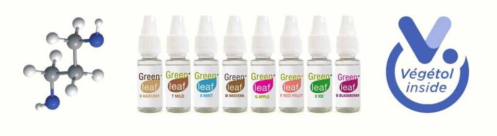 Green Leaf e-liquide Végétol + sel de nicotine
