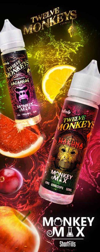 Présentation e-liquide Twelve Monkeys