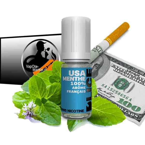 E-liquide USA Menthe de D'lice