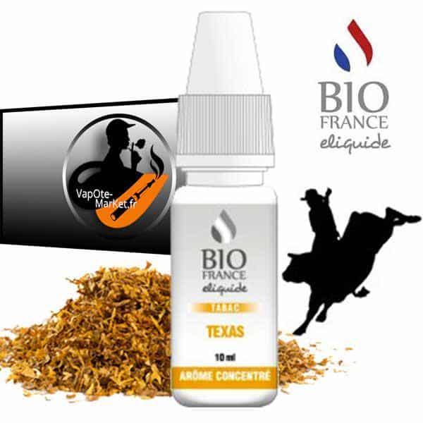 Arome concentré Tabac Texas de Bio France E-liquide
