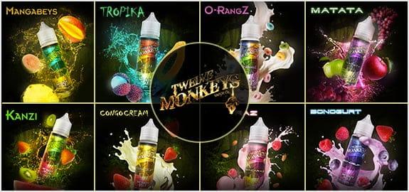 Twelve Mokeys, fabricant de e-liquide canadien