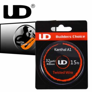 Fil resistif UD 32ga x 2 + Ribbon - Kanthal A1 Twisted Wire