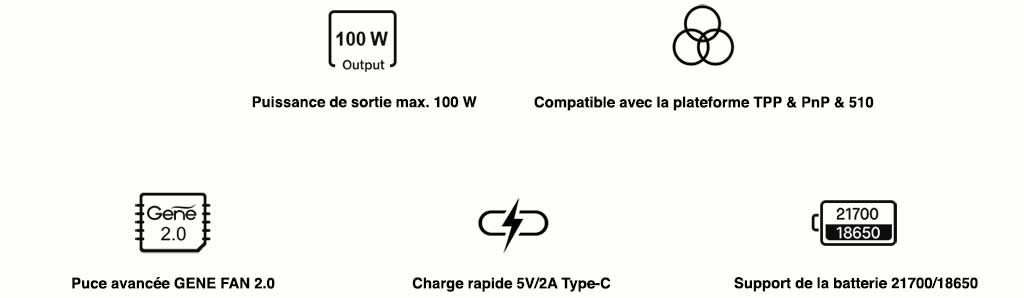 Sécurité Chipset GENE FAN 2.0 Drag X Plus